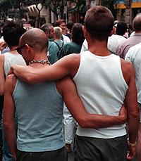 Dos detenidos por agredir a una pareja homosexual que se besaba en la piscina de La Elipa